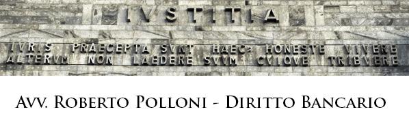 Avv. Roberto Polloni - Avvocato di Diritto Bancario